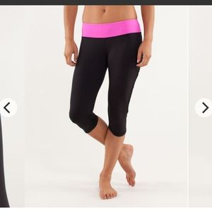 Lululemon Run: fast and free crop HOLE As-Is sz 8